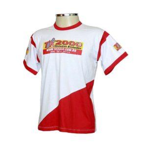 Camiseta Gola Careca Com Recorte Transversal