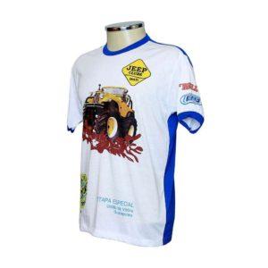 Camiseta Gola Careca Colorida